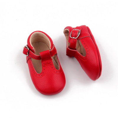 Melbourne Red T-Bar Shoes $50